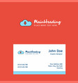 downloading logo design with business card vector image vector image