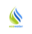 eco water abstract logo vector image vector image