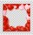 empty blank photo frame with hearts template for vector image