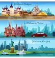 Famous Cities Banners vector image