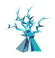 fantastic poligonal tree vector image vector image
