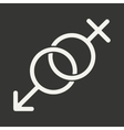 Flat in black and white mobile application sex vector image vector image