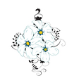 Flower design on white background vector image vector image