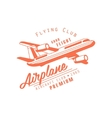 Flying Club Red Emblem Design vector image vector image