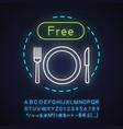 free breakfast neon light concept icon