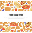 fresh baked goods banner template with baking vector image vector image