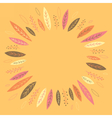 Funny autumn leaves forming a wreath vector image vector image
