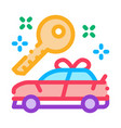 gift car icon outline vector image vector image