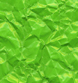 Green Crushed Paper vector image