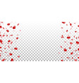 heart frame isolated white transparent background vector image vector image