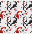 koi fish pond seamless pattern asian art vector image vector image