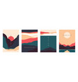 landscape minimal poster abstract geometric vector image