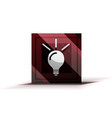 light bulb new idea concept web button vector image