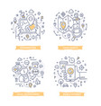 location-based marketing doodle vector image vector image