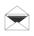 mail envelope symbol black and white vector image vector image