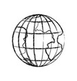 monochrome blurred silhouette of earth globe with vector image