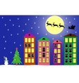 New year night in the town vector image
