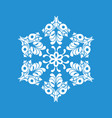 paper snowflake icon simple style vector image