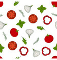 pattern with arugula and vegetables vector image vector image
