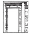 persian architecture are doorway at persepolis vector image vector image