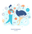poultry life insurance hand drawn flat vector image vector image