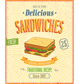 sandwiches vector image vector image