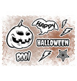 set with pumpkin for halloween vector image vector image