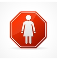 Sign no woman on white background vector image