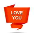 speech bubble love you design element sign symbol vector image