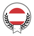 sport emblem with wreath vector image