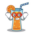 super hero cocktail character cartoon style vector image vector image