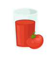 tomato juice icon for tomatoes vegetable vector image vector image
