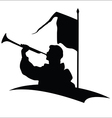 Trumpeter silhouette vector image vector image