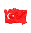 Turkish flag painted by brush hand paints Art vector image vector image