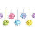 up down hanging pastel colorful birthday vector image