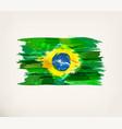 watercolor hand drawn brazilian flag vector image vector image