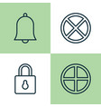 web icons set collection of exit positive bell vector image vector image