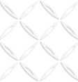 White oval net seamless pattern vector image vector image