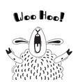 with joyful sheep who shouts - woo vector image vector image
