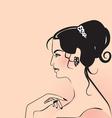 woman oriental vector image vector image