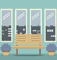 Wooden Chair With Four Glasses Windows vector image