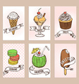 Sweets posters template vector image