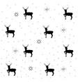 deer and christmas tree on gray seamless pattern vector image