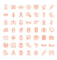 49 medical icons vector image vector image