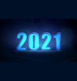 abstract technology template for 2021 vector image vector image