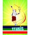 al 0344 tennis poster 01 vector image vector image