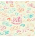 bakery retro seamless pattern vector image vector image