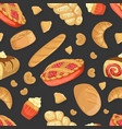 baking products seamless pattern fresh baked vector image vector image