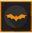 Bat icon with long shadow vector image vector image