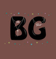 be good black letters with pearl collars vector image vector image